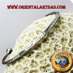 triangular rigid bracelet handmade silver