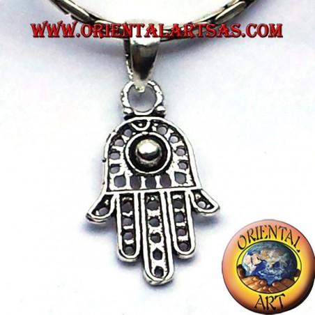 silver pendant hand of Fatima hamsa