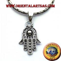 ciondolo in argento mano di Fatima hamsa