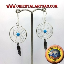 dreamcatcher earrings in silver big