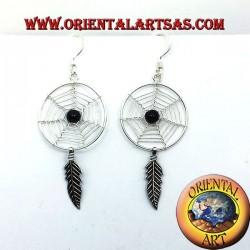 dreamcatcher earrings in silver big