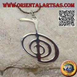 Pendentif en argent du mantra Cho Ku Rei, premier symbole du système Reiki d'Usui