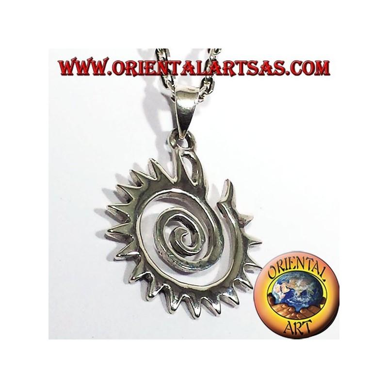 ciondolo Koru spirale dentata in argento