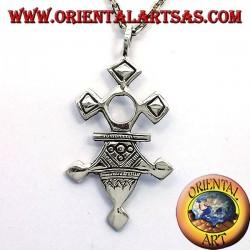 Tuareg de plata colgante de la cruz Inabagret