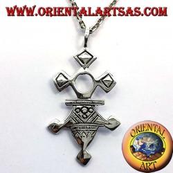 Tuareg silver cross pendant Inabagret