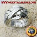 Fede turca sei fili grande in argento