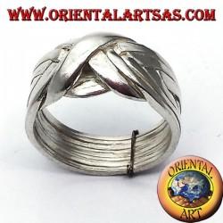 Anello fede turca in argento a otto anelli