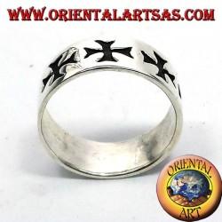 ring record cross of silver Templar