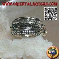 """Anello in argento a forma di cavalluccio marino """"hippocampus"""" attorcigliato"""