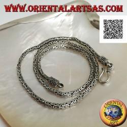 925 ‰ Silber BOROBUDUR Byzantinische Halskette mit Schlangengliedern, 45 cm x 2,5 mm