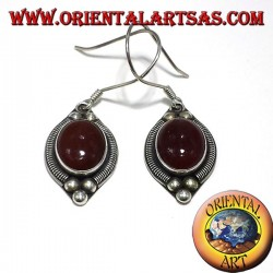 silver earring with carnelian Bali