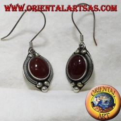 silver earring with carnelian Bali