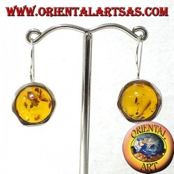 Amber earrings in silver
