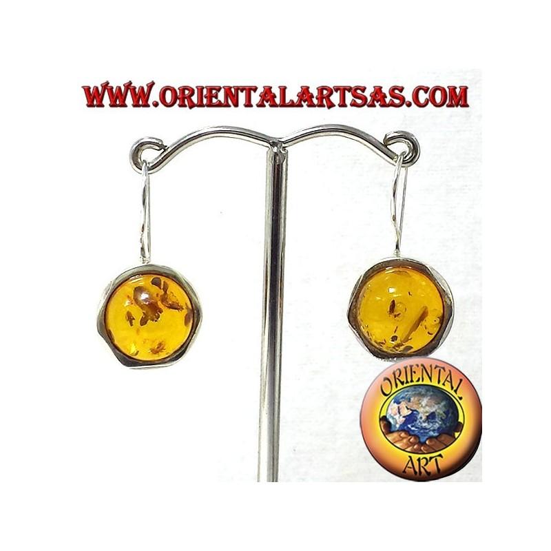 orecchini con Ambra in argento