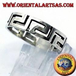 Greek silver ring pierced record