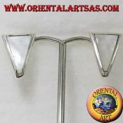 серьга перлы трапеции серебра лопасть
