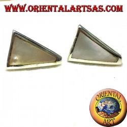 pearl earring trapeze silver lobe