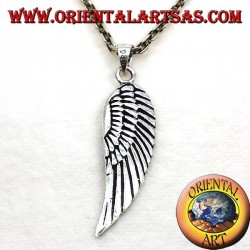 Wings pendant silver angel bifacial