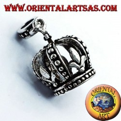 Pendant Crown Heraldry (Lily) Silver