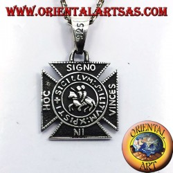 In Hoc Signo Vinces pendant in silver