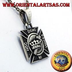 In Hoc Signo Vinces pendant in silver