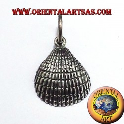 Anadara clam shell silver pendant