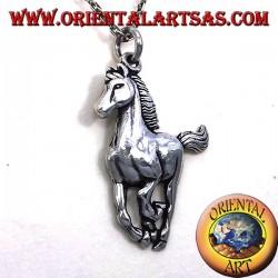 Anhänger Pferdengaloppieren Silber