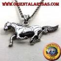 ciondolo cavallo da corsa in argento