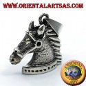 pendant horse head with bridle silver