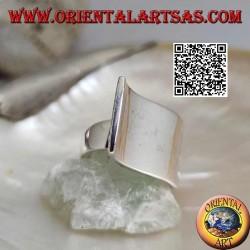 Anillo de plata con junta drapeada ondulada