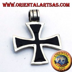cross pendant of Black Templars, silver