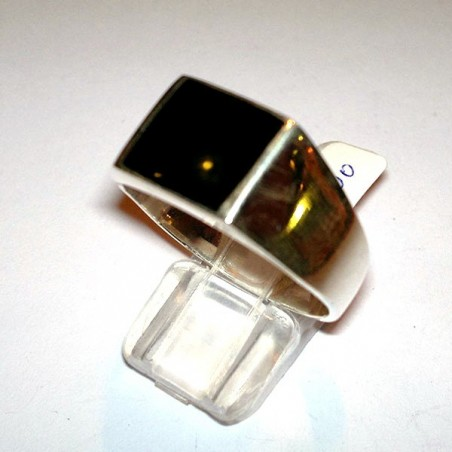silver ring with onyx 12*10