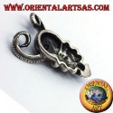 pendant skull with horns of RAM, silver
