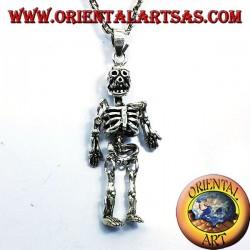 ciondolo scheletro mobile in argento