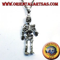 mobile pendant skeleton silver