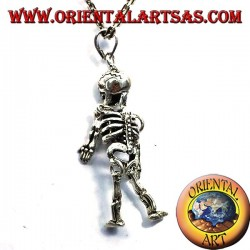 mobile pendant skeleton silver