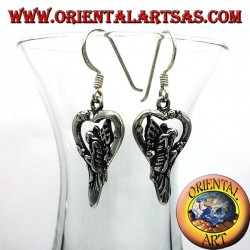 Earring fairy in silver heart