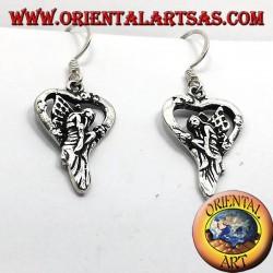 Earring fairy in silver heart