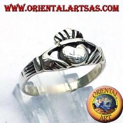 Claddagh anillo irlandés de plata 925