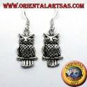 Orecchini gufo in argento