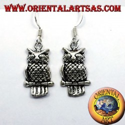Argent Owl Earring