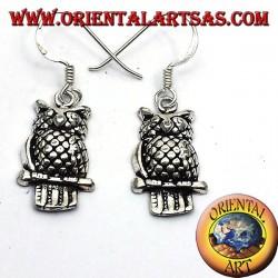 Silver Owl Earring