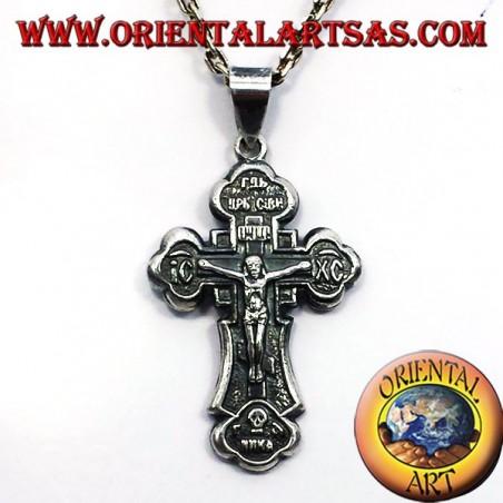 Orthodox cross pendant in silver