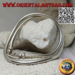 Collana in argento 700‰ a maglia snake da 40 cm x 4 mm