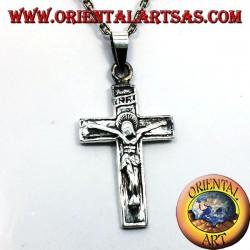 crucifix pendant, 925 silver