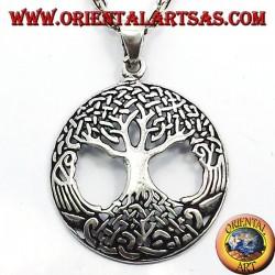 Baum des Lebens Anhänger groß Silber