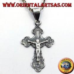 Orthodoxe Kruzifix Anhänger kleine silberne