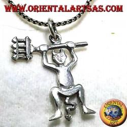 Devil pendant in silver