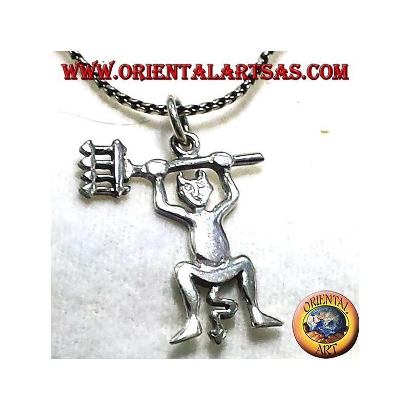 Teufel-Anhänger aus Silber