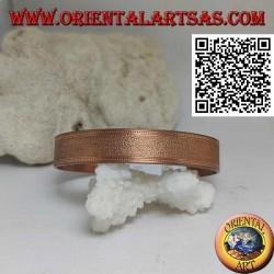 Rigid bracelet with copper satin finish